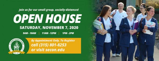 Open House – Saturday, November 7, 2020